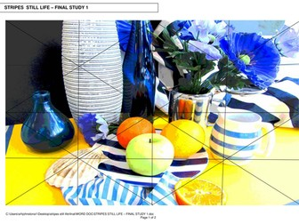 "ART & DESIGN  NATIONAL 5/HIGHER  EXPRESSIVE STILL LIFE IMAGES ""STRIPES"""
