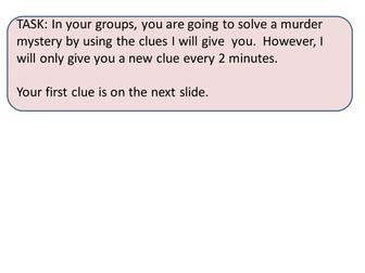 Murder Mystery Group work