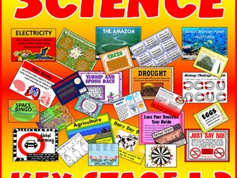 100 SCIENCE ACTIVITIES GAMES WORKSHEETS key stage 1-2 TEACHING RESOURCES