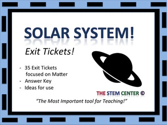 Solar System Exit Cards