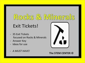 Rocks & Minerals Exit Tickets