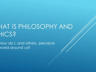 Introduction to Philosophy and Ethics