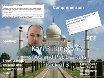 Karl Pilkington's SPAG and PEE starters