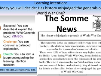 Has history misjudged the Generals of World War One?