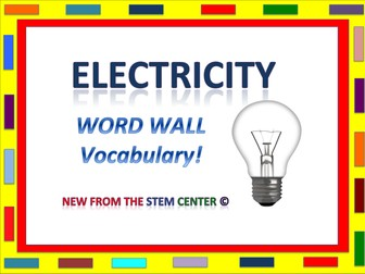 Electricity: Word Wall