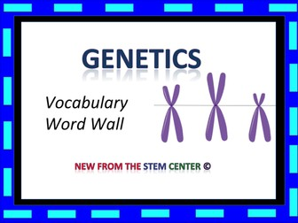 Genetics: Word Wall