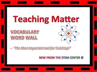 Matter: Word Wall