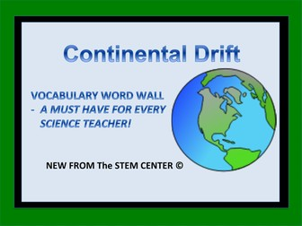 Continental Drift: Word Wall