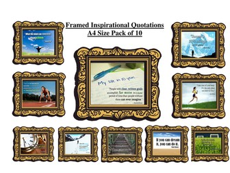 10 Framed Inspirational Quotations - Ideal for Displays