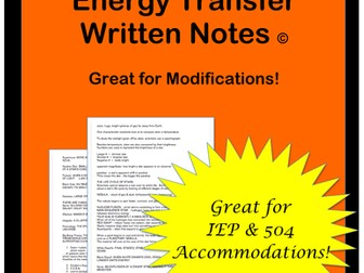 Energy Transformation: Notes