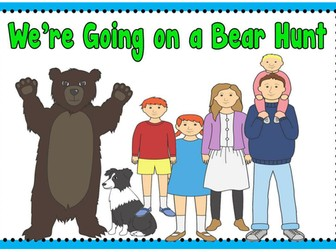 WE'RE GOING ON A BEAR HUNT STORY TEACHING RESOURCES SACK EYFS KS1 READING