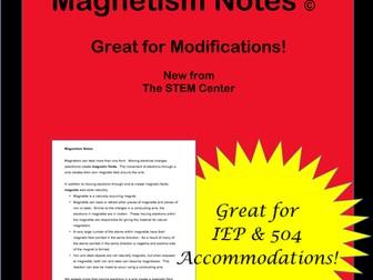 Magnetism: Notes