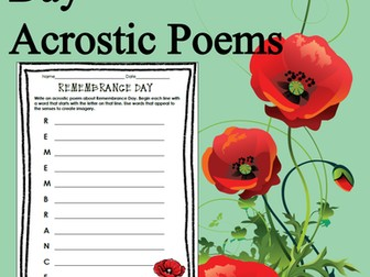 Remembrance Day Acrostic Poems