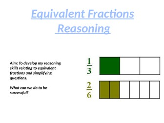 Equivalent Fractions and Simplifying Fractions Reasoning questions with answers
