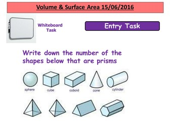 Volume & Surface Area Cylinder