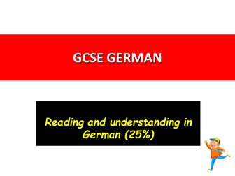 German The NEW Reading Exam 2016-2018