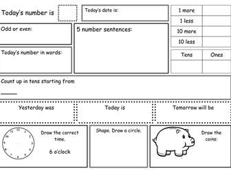 KS1 Maths Practice Sheets