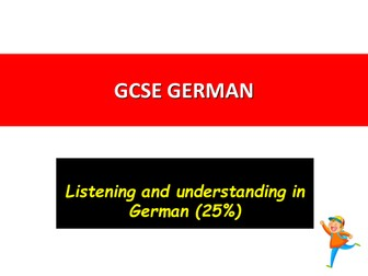 German the NEW Listening Paper 2016-2018