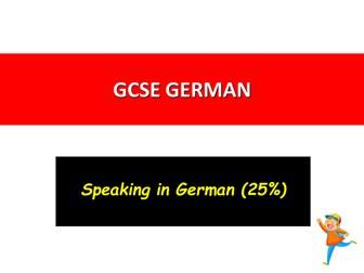 German The NEW Speaking Paper 2016-2018