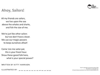 Ahoy Sailors: A Poetry/Drawing, Visual Literacy Exercise