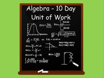 Year 6:  Algebra Unit of Work (2 weeks)