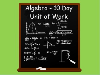 Year 6:  Algebra Unit of Work (2 weeks)