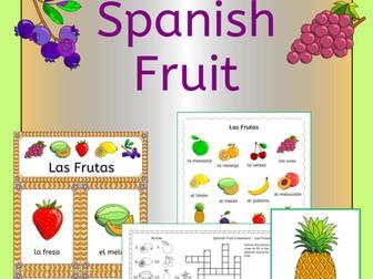 Spanish Fruit Vocabulary - Las Frutas - games, activities, puzzles