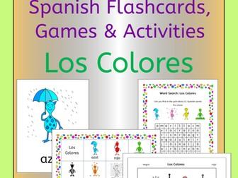 Spanish colors vocabulary - los colores