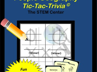 Geography: Tic-Tac-Trivia Board Game!