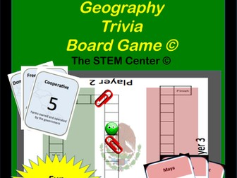 Geography: Mexico - Central America, & Caribbean Islands Geography Trivia Board Game!