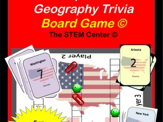 United States Capitals - and Canadian Capitals Trivia Game.
