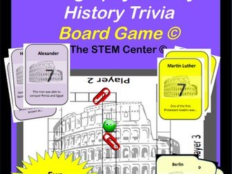 European Geography and Early History: Trivia Board Game