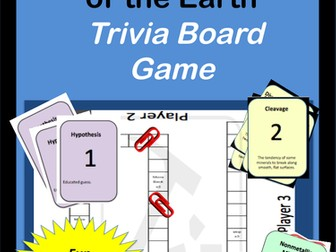 Rocks and Minerals: Trivia Board Game