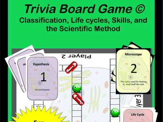 Life Science - Elementary Trivia Board Game