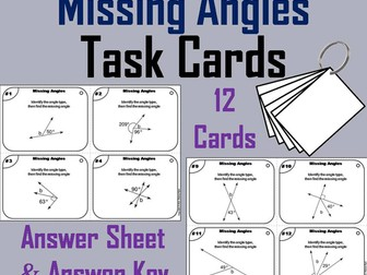 Missing Angles Task Cards