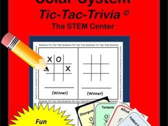 Space: Tic Tac Trivia Board Game