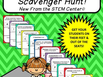 Multiplication Tables (4's): Scavenger Hunt