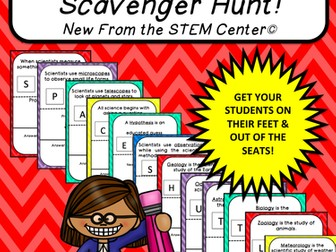 Multiplication Tables (5's): Scavenger Hunt