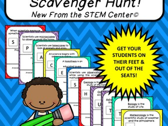 Multiplication Tables (8's): Scavenger Hunt