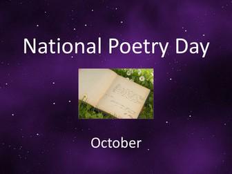 UK National Poetry Day Informative Presentation