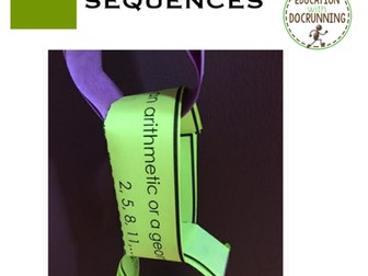 Arithmetic and Geometric Sequence: Mixed Review Paper Chain Activity