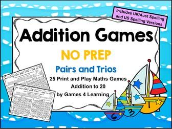 Addition Games NO PREP Math Games