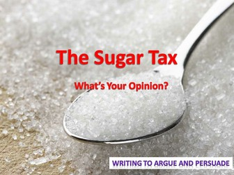 Sugar Tax - Letter Writing Lesson