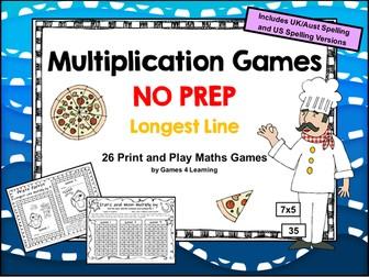 Multiplication Games NO PREP Math Games