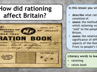 Second World War - Rationing