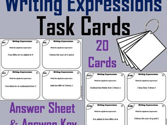 Writing Expressions Task Cards