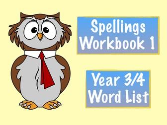 Spellings Workbook 1 - Year 3/4 National Curriculum Word List