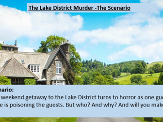The Lake District Murder - Creative Writing Lesson