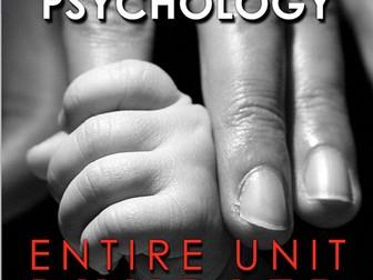 Developmental Psychology Unit Bundled - Worksheets, PPTs, Plans, Assessment