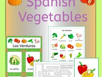 Spanish Vegetables Vocabulary - Las Verduras